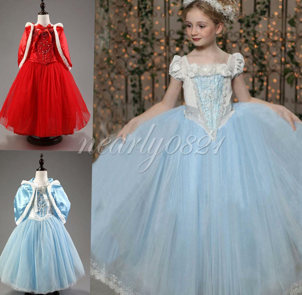 MÄDCHEN CINDERELLA PRINZESSIN Kleid Kinder Cosplay Party Fancy ...
