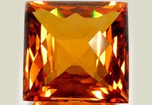 Handcut Scotland 108ct Citrine Medieval Merchant Plague Arab Islamic Gold Amulet