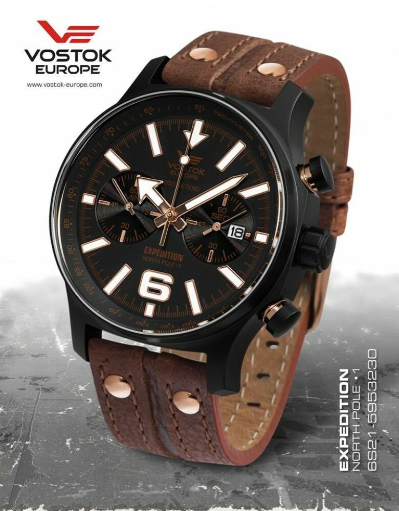Vostok Europe Expedition North pole Chronograph incl. 3 Bands Miyota 6S21