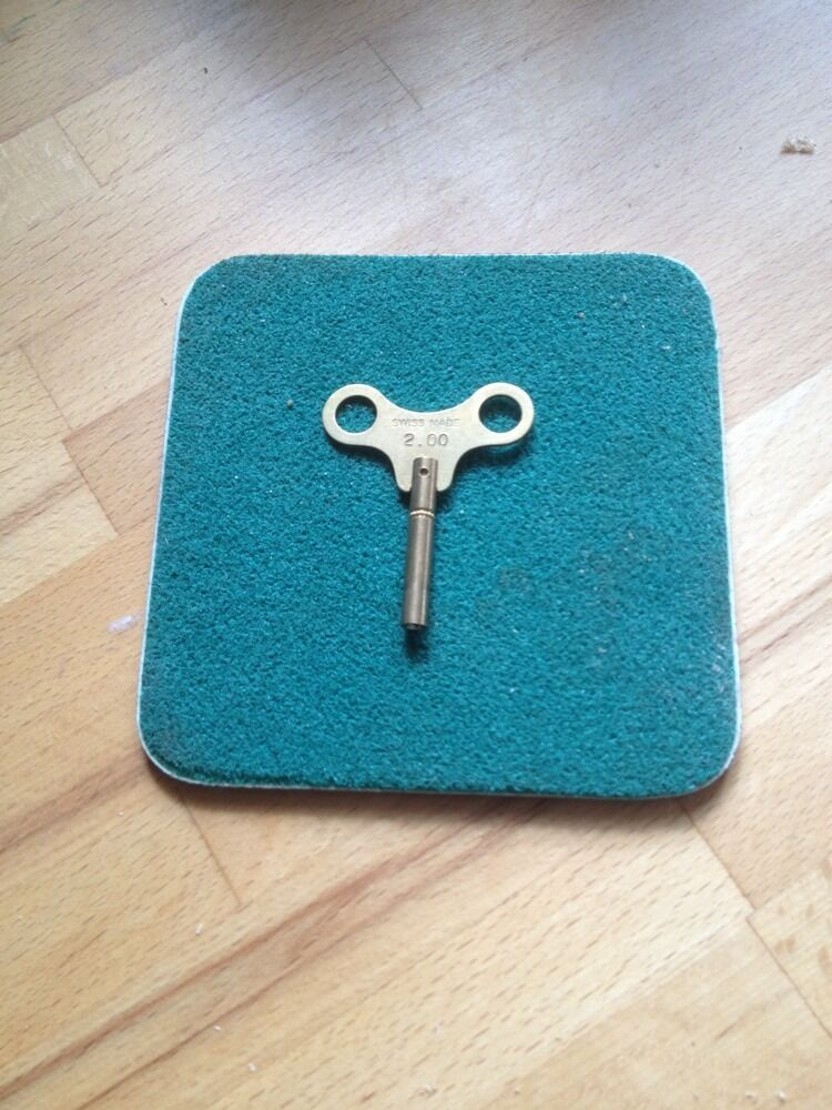 Clock Winding key size 2.00 mm No 00 Made from Brass lots of Sizes in Stock