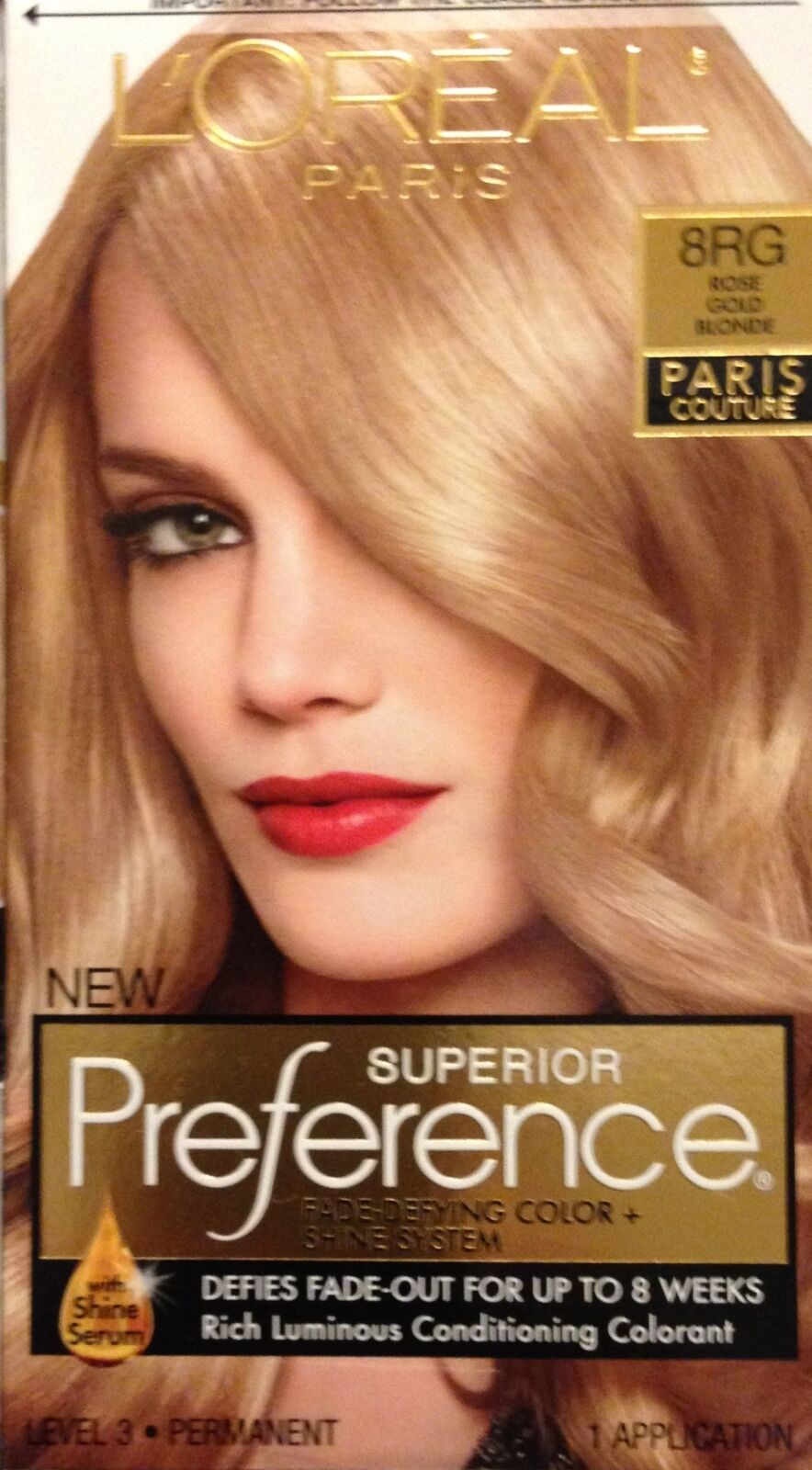 Loreal Superior Preference Paris Couture Hair Color 8rg Rose Gold