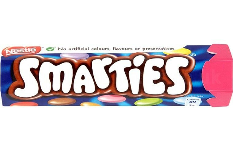 Nestle Smarties - 38g Hextube - Various Quantity - Long Use by Date - Chocolate