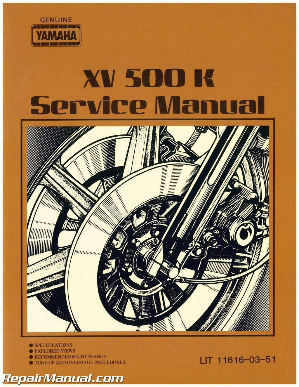 1983 Yamaha XV500K Virago Motorcycle Service Manual 1 of 1Only 4 available  ...