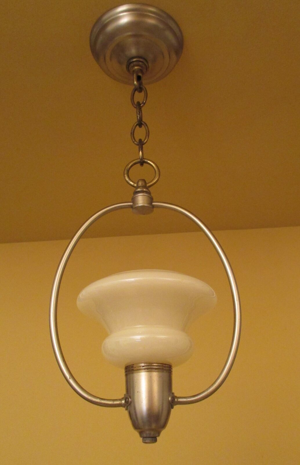 Vintage Lighting matched pair 1930s foyer hall fixtures by Halcolite