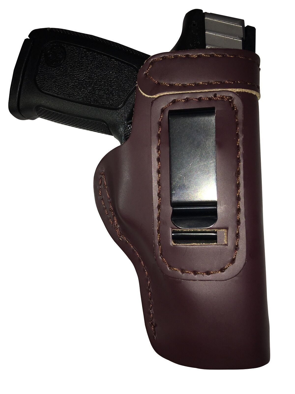 LT CUSTOM MAHOGANY IWB Leather Gun Holster YOU CHOOSE:rh,lh-laser ...