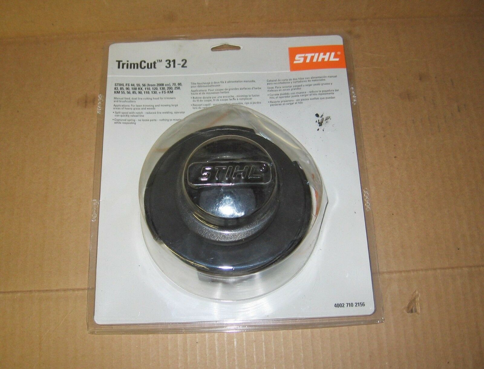 STIHL 31-2 MANUAL STRING TRIMMER HEAD FS90 FS85 FS120 FS250 + more GENUINE  OEM 1 of 2Only 2 available STIHL 31-2 MANUAL STRING TRIMMER HEAD FS90 ...