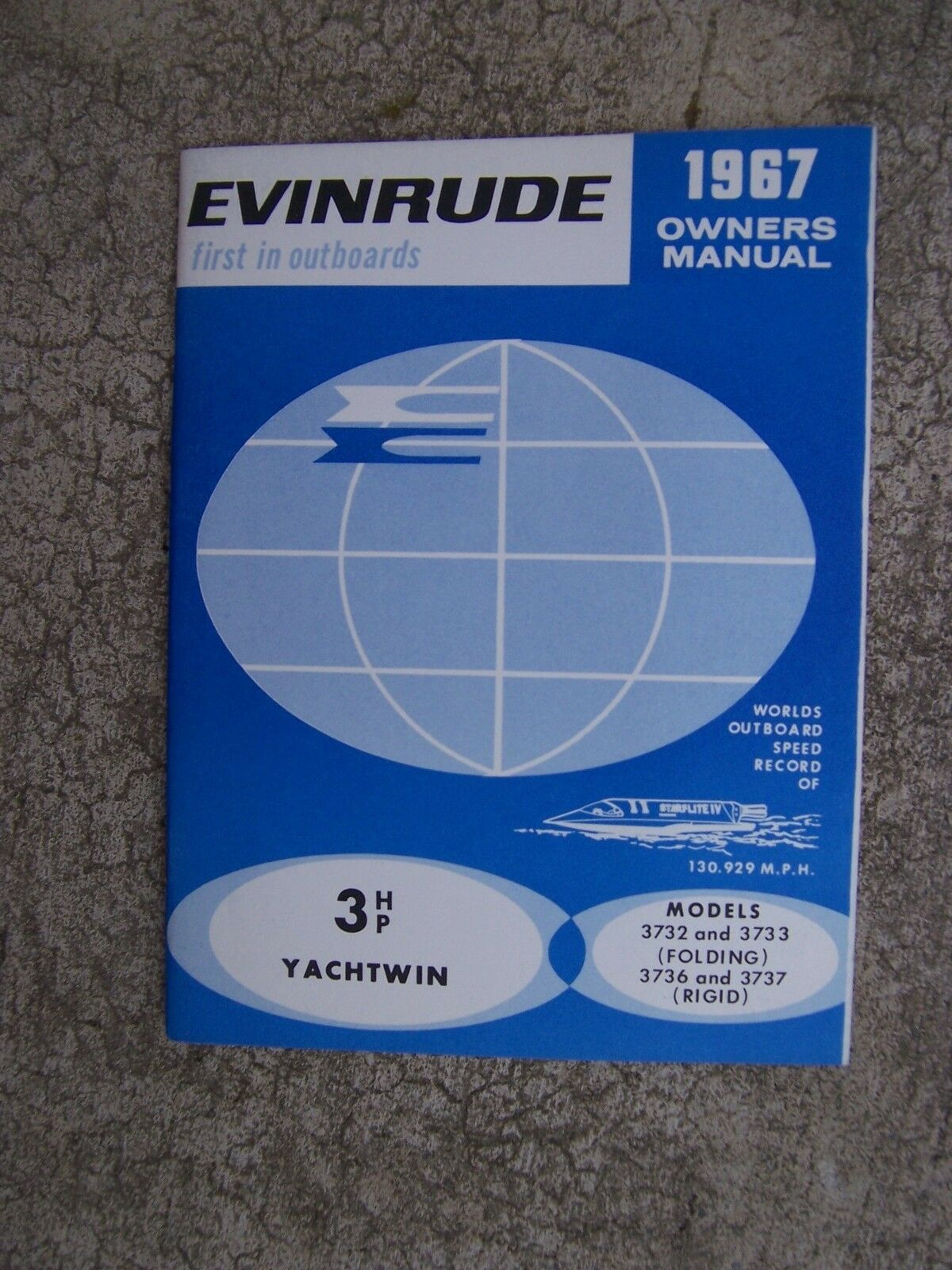 1967 Evinrude Outboard Motor 3 HP Yachtwin 3732 3733 3736 3737 Owner Manual  S 1 of 1Only 1 available ...