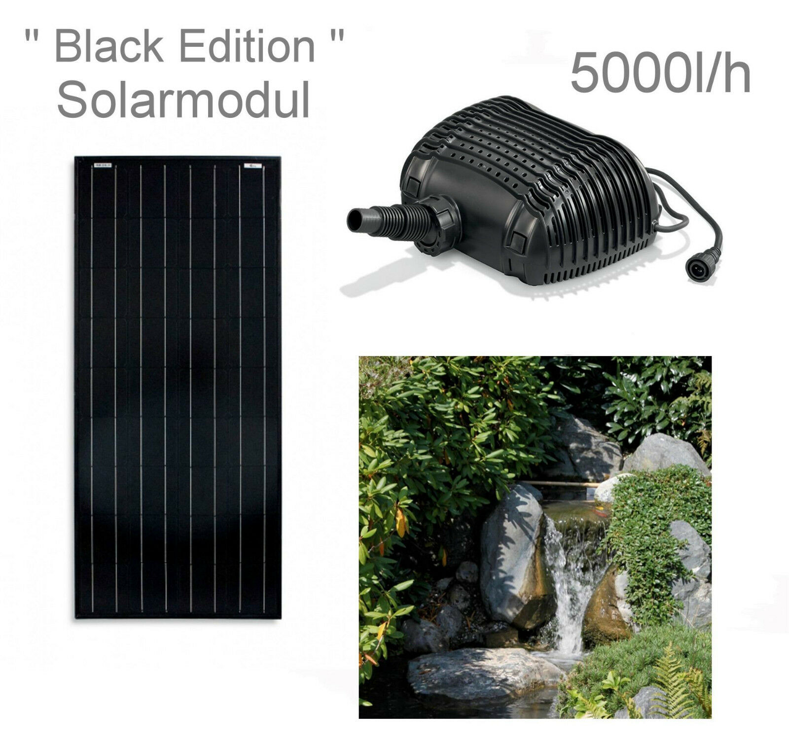100w solar bachlaufpumpe teichpumpe solarpumpe gartenteichpumpe lugano teich eur 255 00. Black Bedroom Furniture Sets. Home Design Ideas