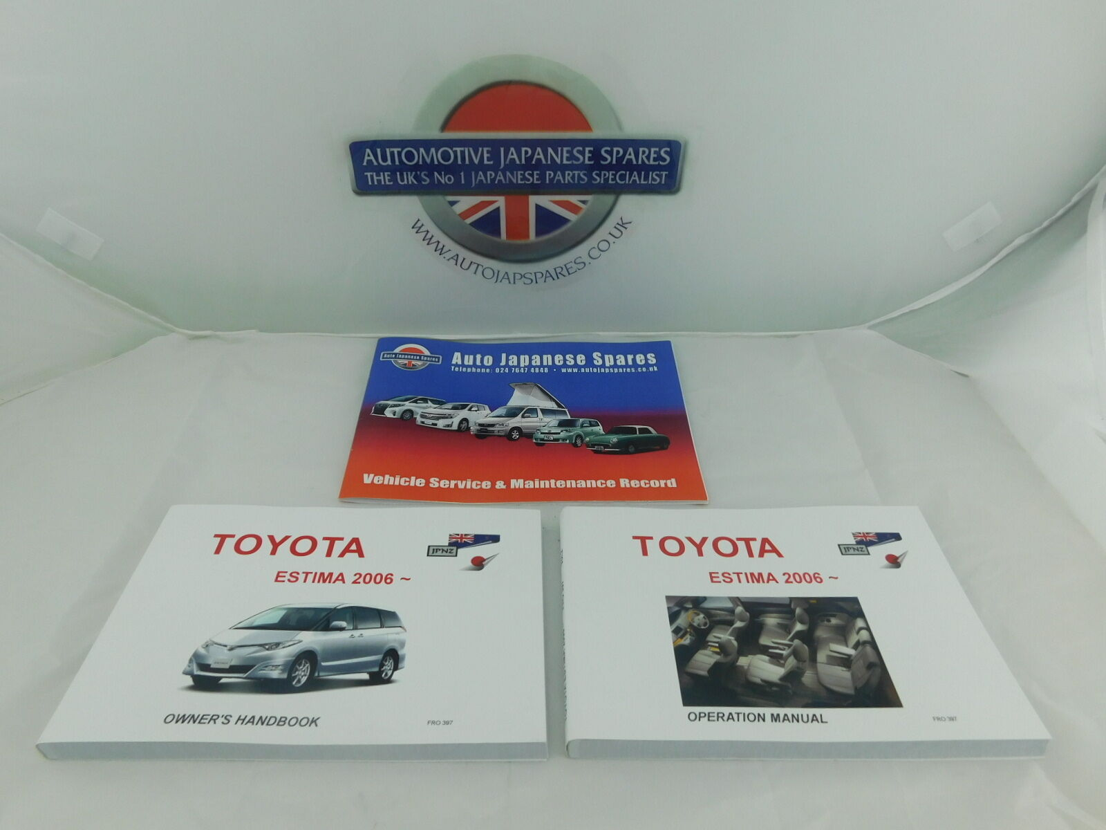 Toyota Estima 2006 Onwards Owners Manual Handbook Service Fuse Box Record Booklet 1 Of 3
