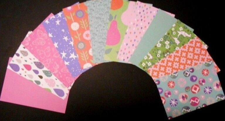 """*DAYDREAM* Colourful Scrapbooking/Cardmaking Papers x 12  - 15cm x10cm (6"""" x 4"""")"""