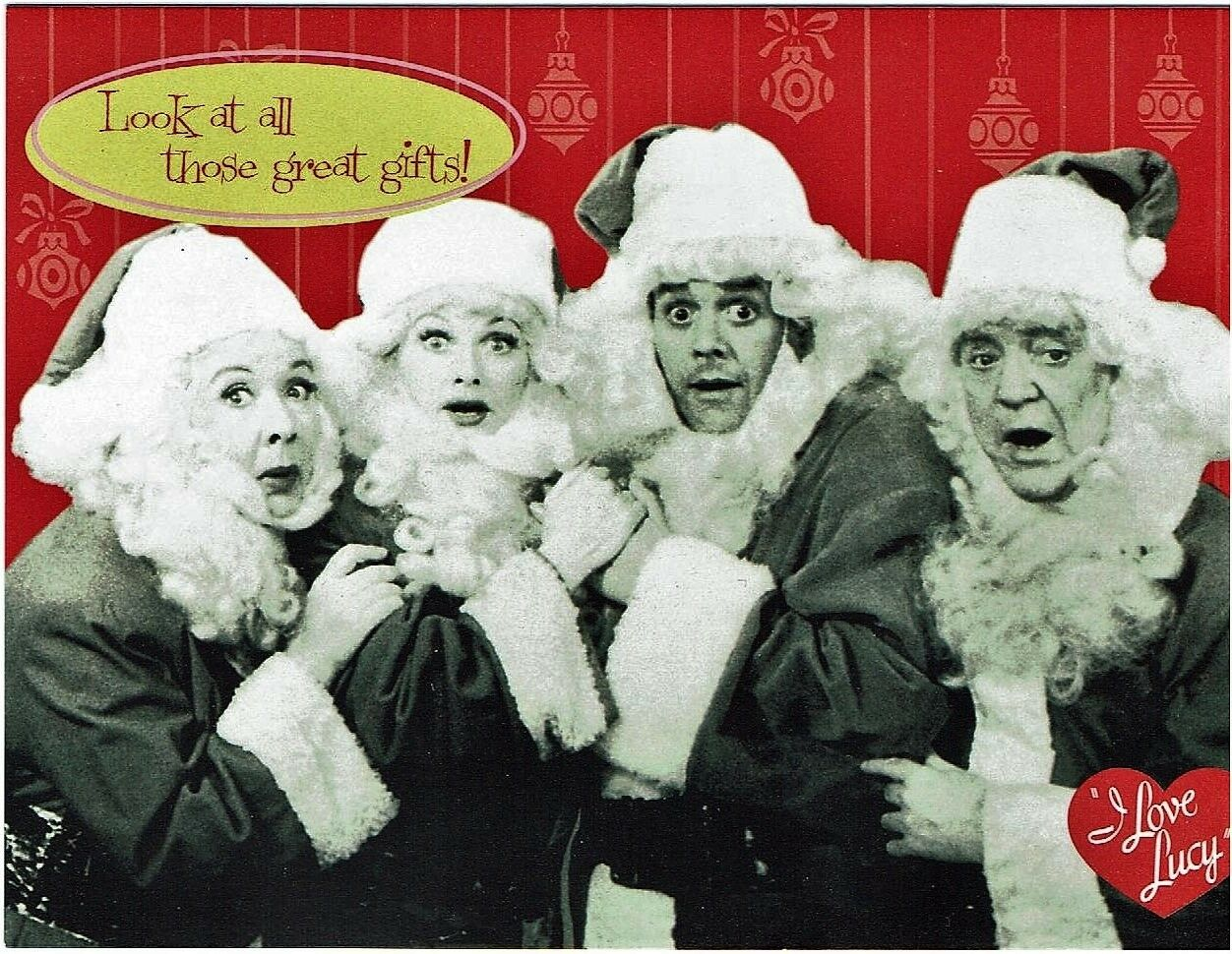LUCILLE BALL DESI Arnaz I LOVE LUCY CAST CHRISTMAS CARD - NEW with ...