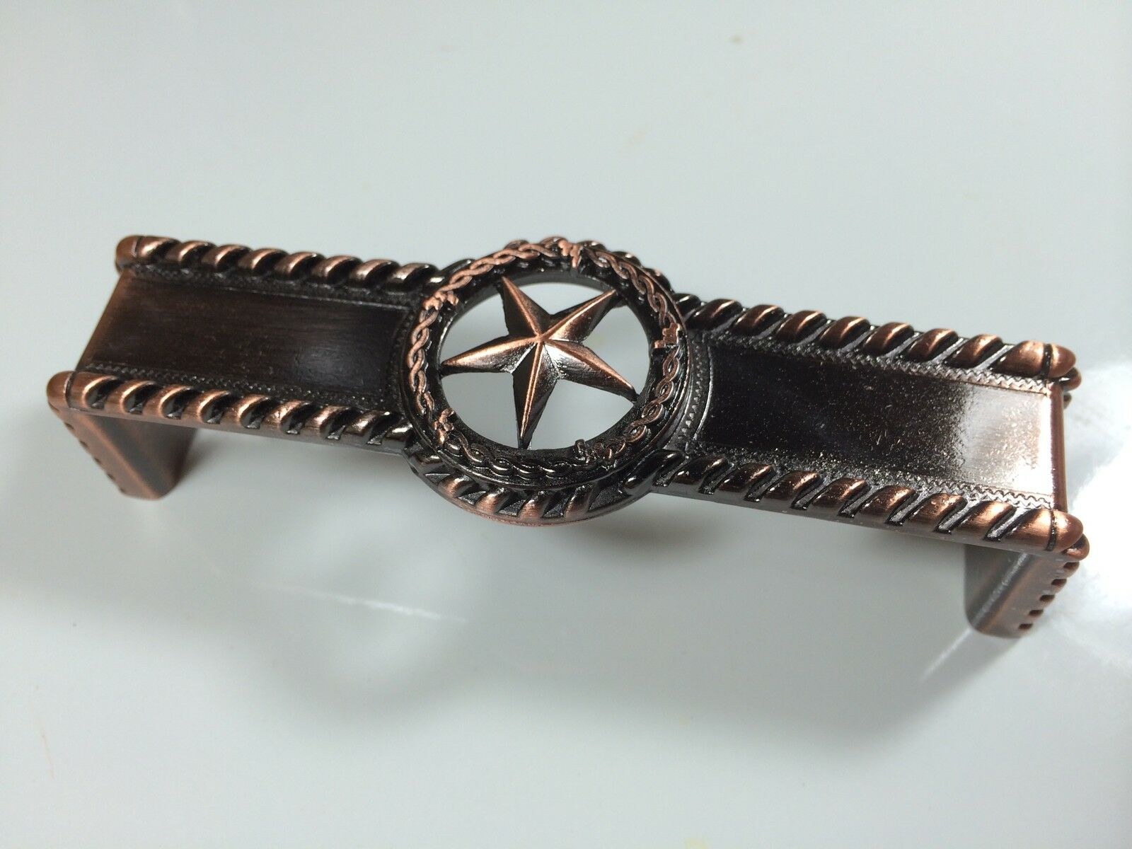 Attirant Star With Barbwire Pull Antique Copper Western Cabinet Hardware Drawer Pulls