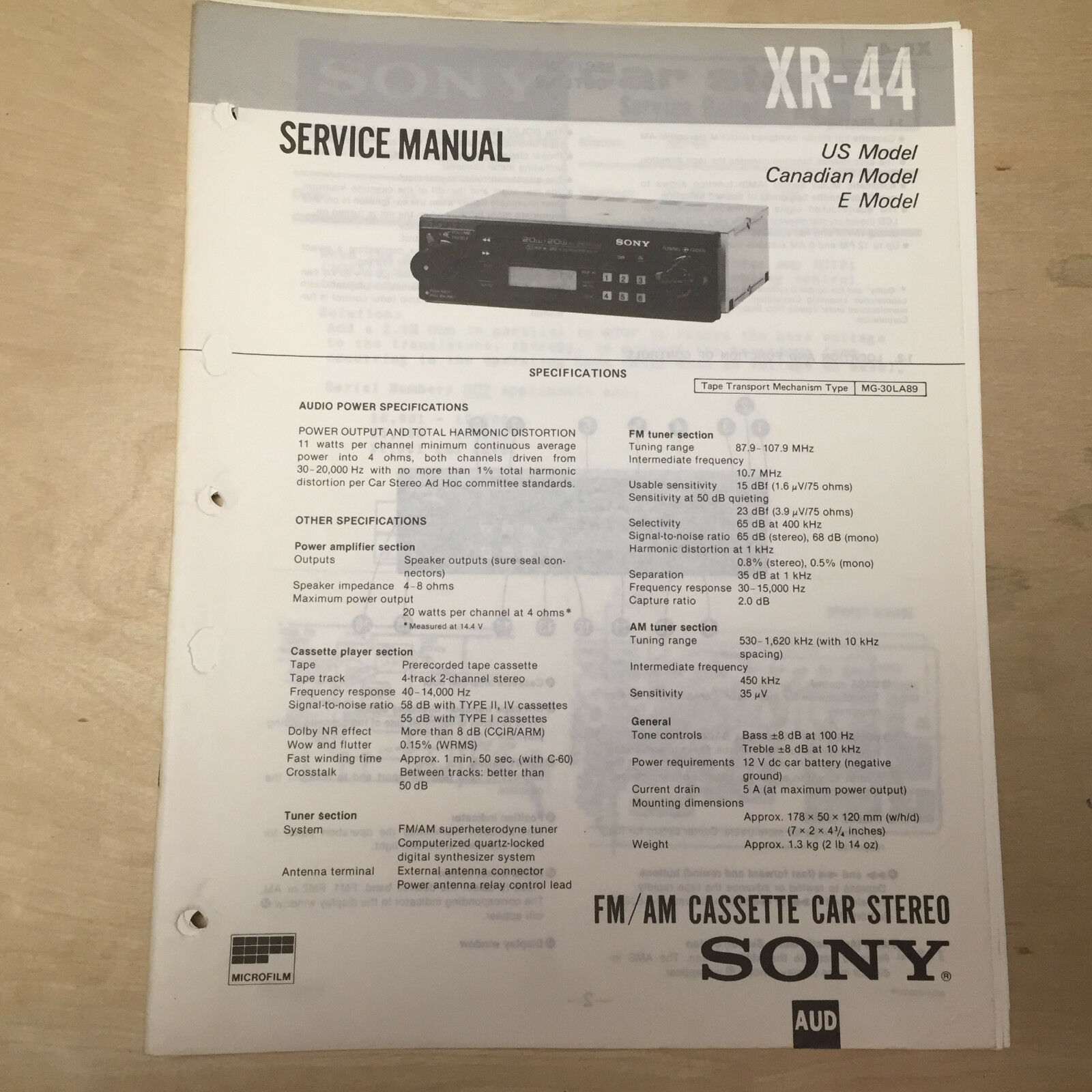 Sony Xr Ca630x Wiring Diagram Page 3 And Schematics Fast Track Diagrams Service Manual For The 44 Cette Player Radio Car Stereo Rh Pic Com
