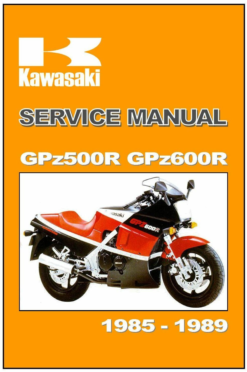 KAWASAKI Workshop Manual GPz600R ZX600 GPz500R ZX500 1985 1986 1987 1988 &  1989 1 of 6Only 1 available ...