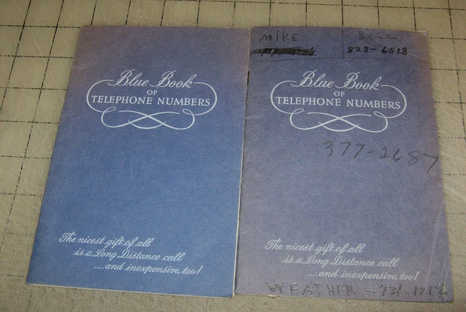 2 Vintage BLUE BOOK OF TELEPHONE NUMBERS Booklets (Maryland ...