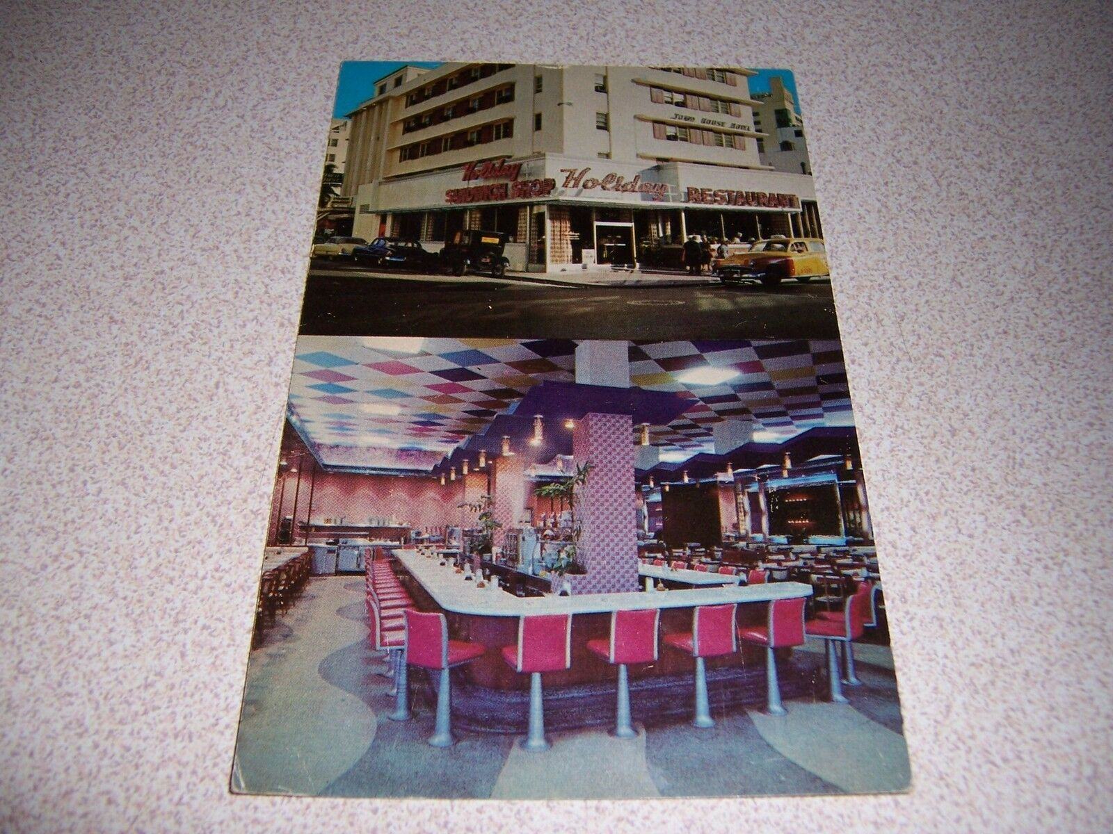 1930s Holiday Restaurant Collins Ave Miami Beach Florida Vtg Postcard 1 Of 1only Available