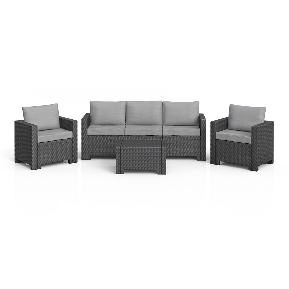 bica colorado lounge set polyrattan gartenm bel rattanoptik sitzgruppe grau eur 272 53. Black Bedroom Furniture Sets. Home Design Ideas