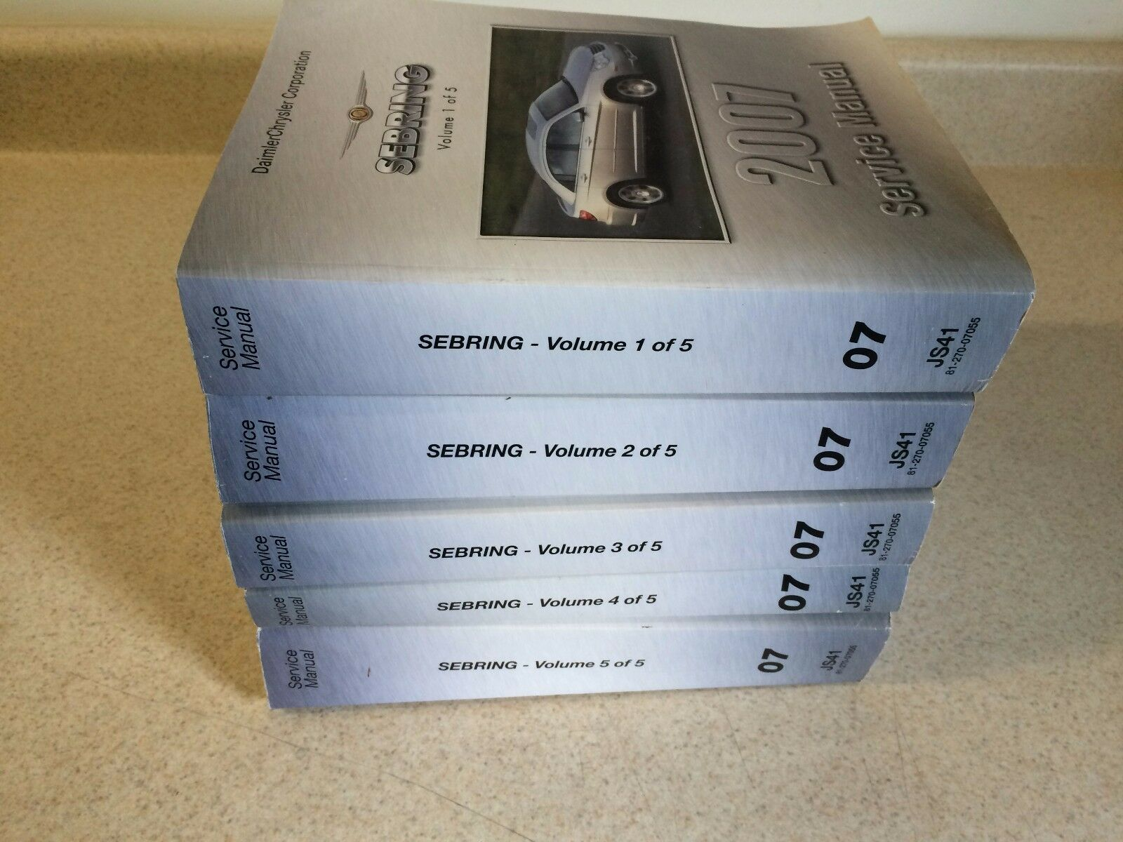 2007 Chrysler Sebring Service Workshop Repair Shop Manual 8127007055 1 of  3Only 1 available ...