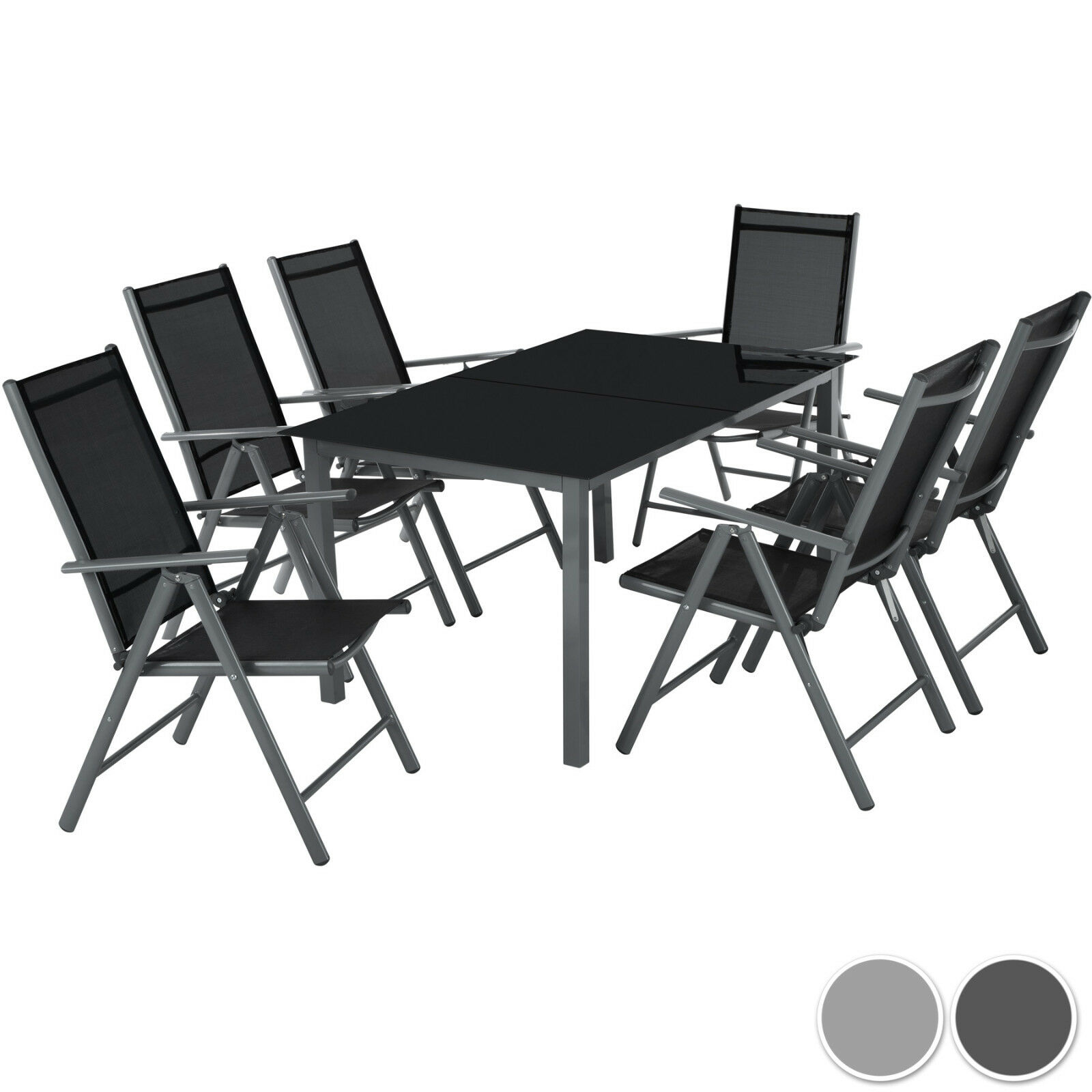 6 1 alu sitzgruppe gartenm bel gartengarnitur tisch stuhl essgruppe gartenset eur 249 99. Black Bedroom Furniture Sets. Home Design Ideas