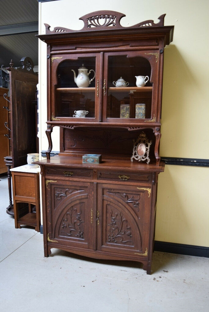 traumhaft sch nes jugendstil buffet art nouveau lieferung m glich eur 990 00 picclick de. Black Bedroom Furniture Sets. Home Design Ideas