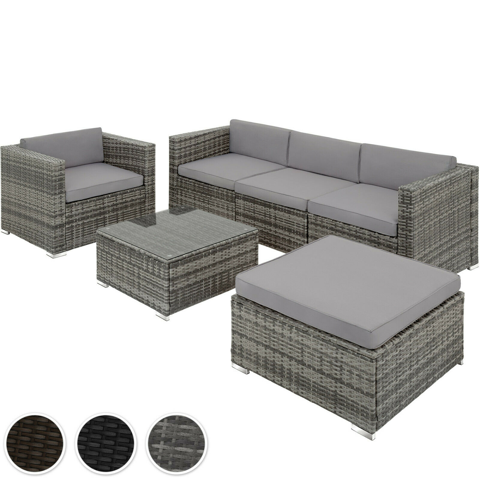 poly rattan garnitur sitzgruppe rattanm bel sofa m bel gartengernitur lounge picclick be. Black Bedroom Furniture Sets. Home Design Ideas
