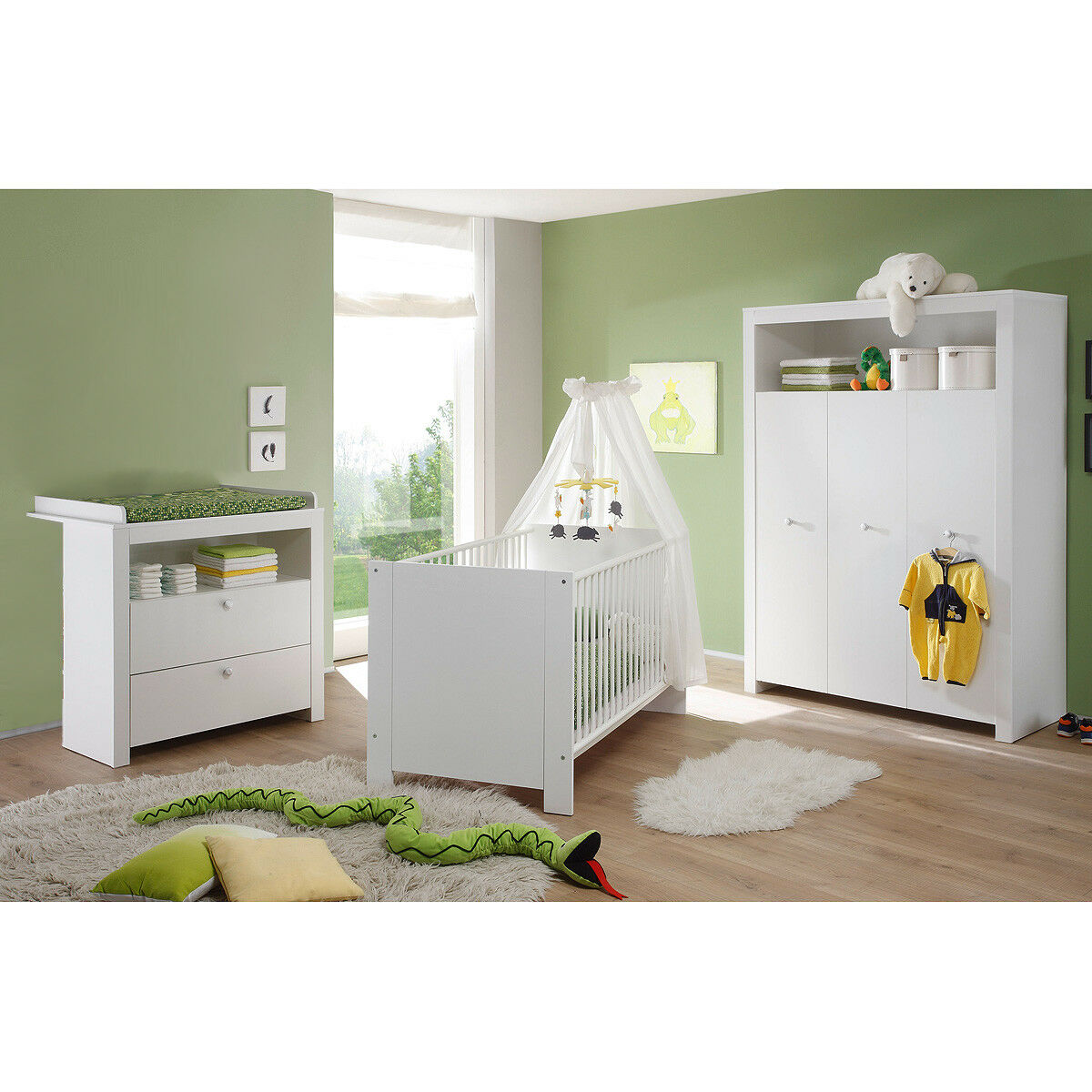 babyzimmer set olivia kinderzimmer babym bel komplett in wei 3 teilig eur 389 95 picclick de. Black Bedroom Furniture Sets. Home Design Ideas