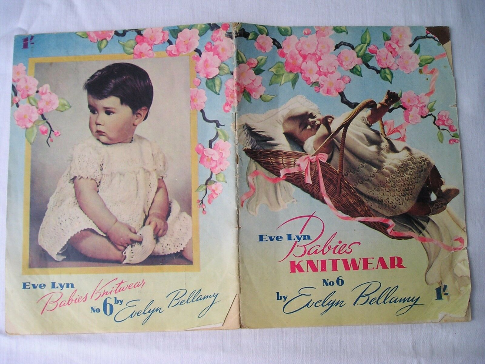 Vintage BABY KNITTING PATTERNS Evelyn Bellamy Book No 6 ...