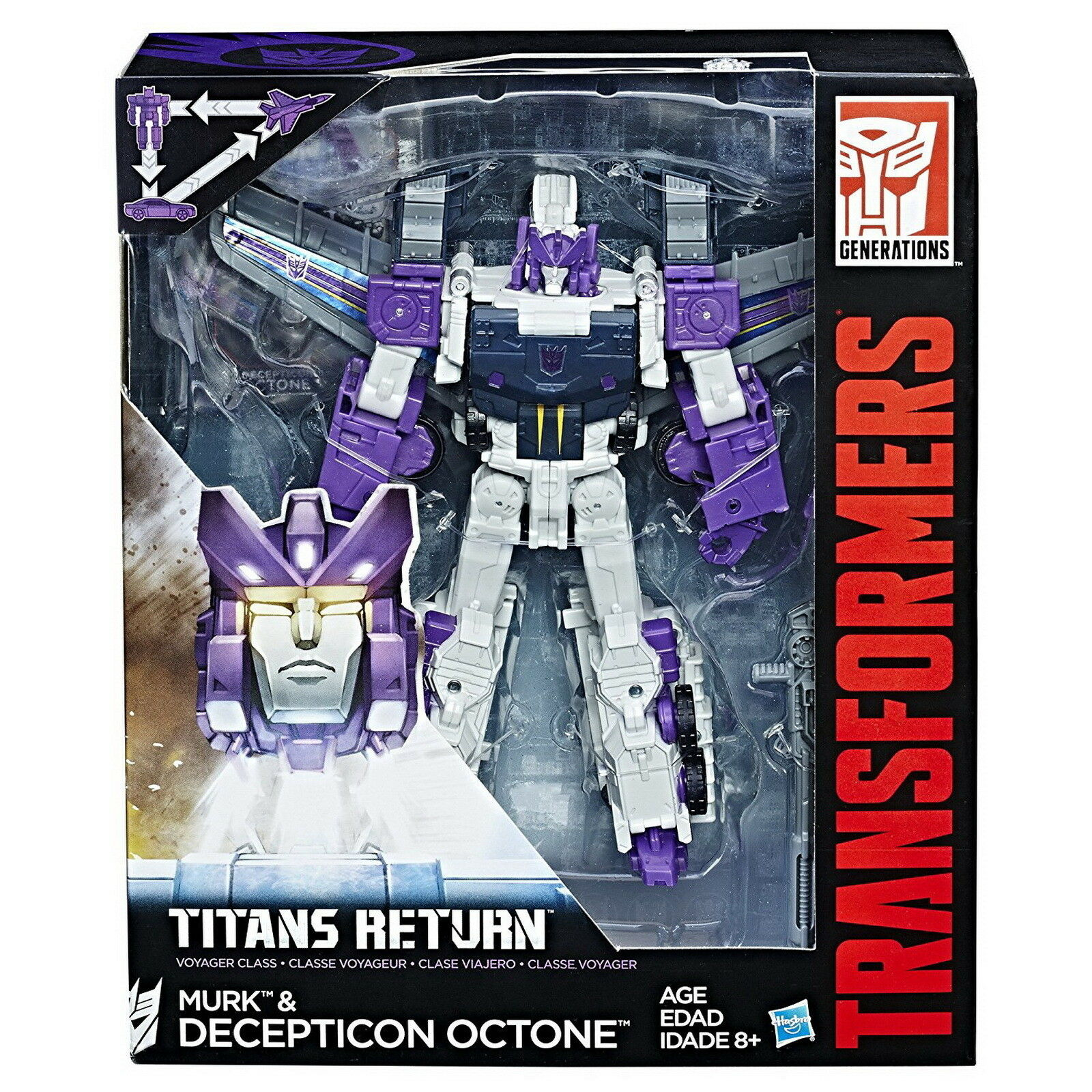 Transformers Generations Titans Return Voyager Class Decepticon Octone and Murk