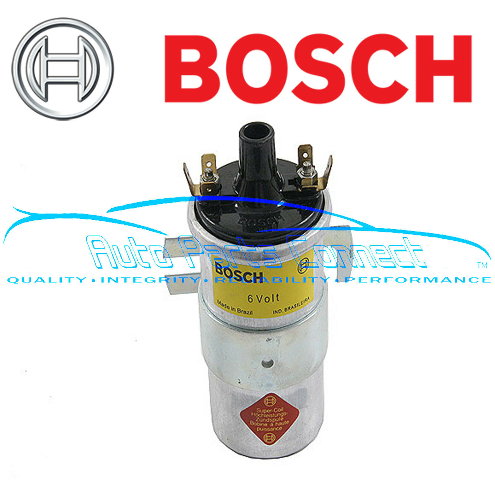 Bosch Ignition Coil 6v 6 Volt For Porsche 356 Volkswagen Vw Bug Bus On Plug Wiring Diagram 1 Of 1free Shipping