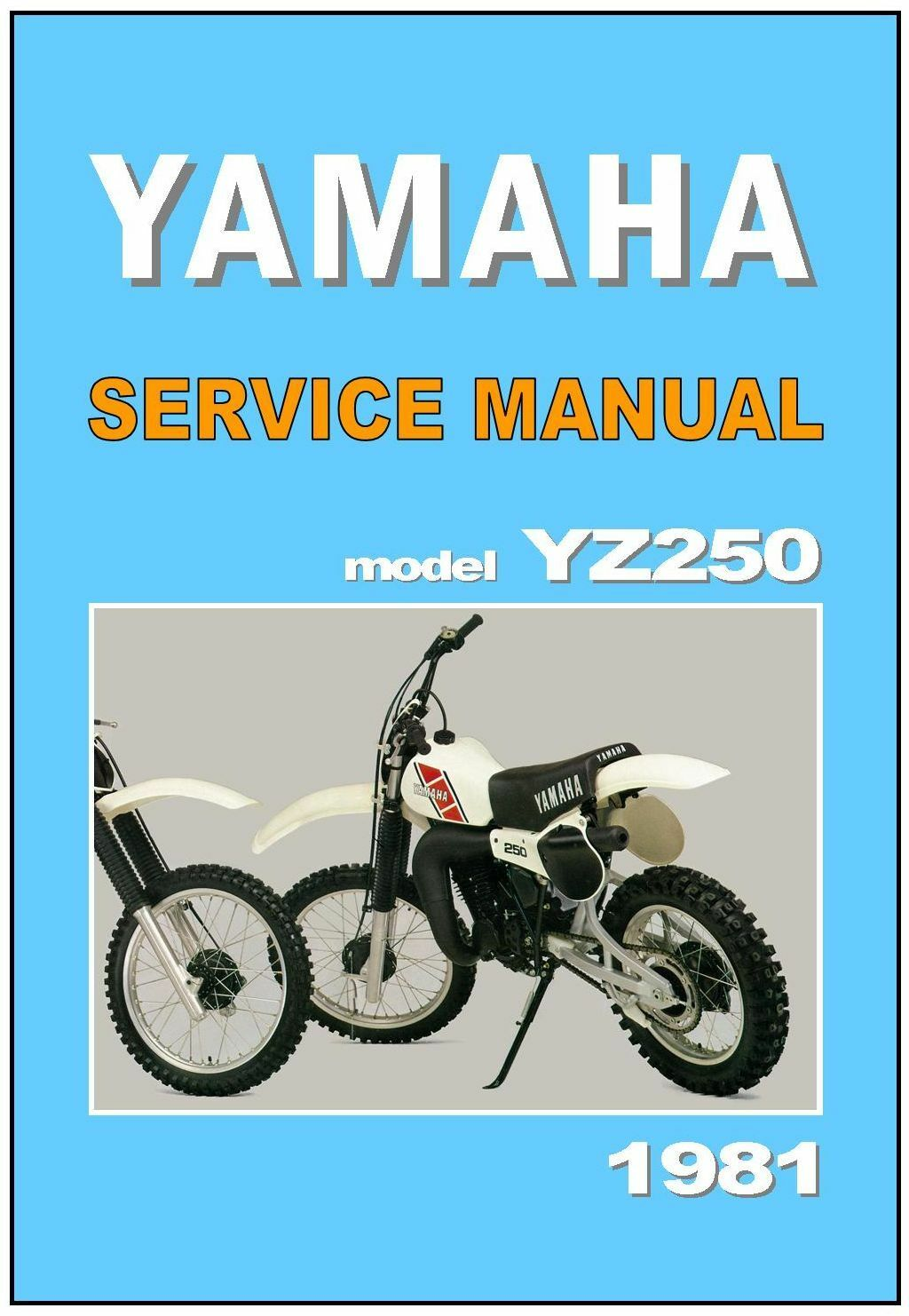 YAMAHA Workshop Manual YZ250 YZ250H VMX 1981 Service Repair Tuning  Maintenance 1 of 3 See More