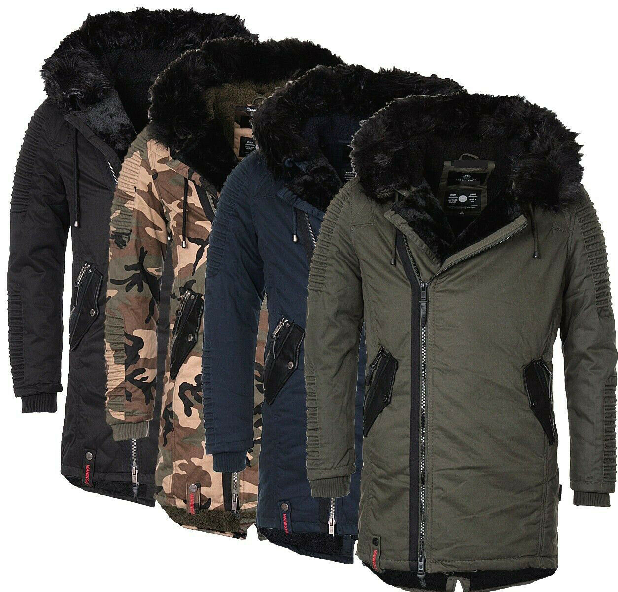 marikoo osaka herren warme winterjacke winter parka wintermantel lange jacke neu eur 79 90. Black Bedroom Furniture Sets. Home Design Ideas