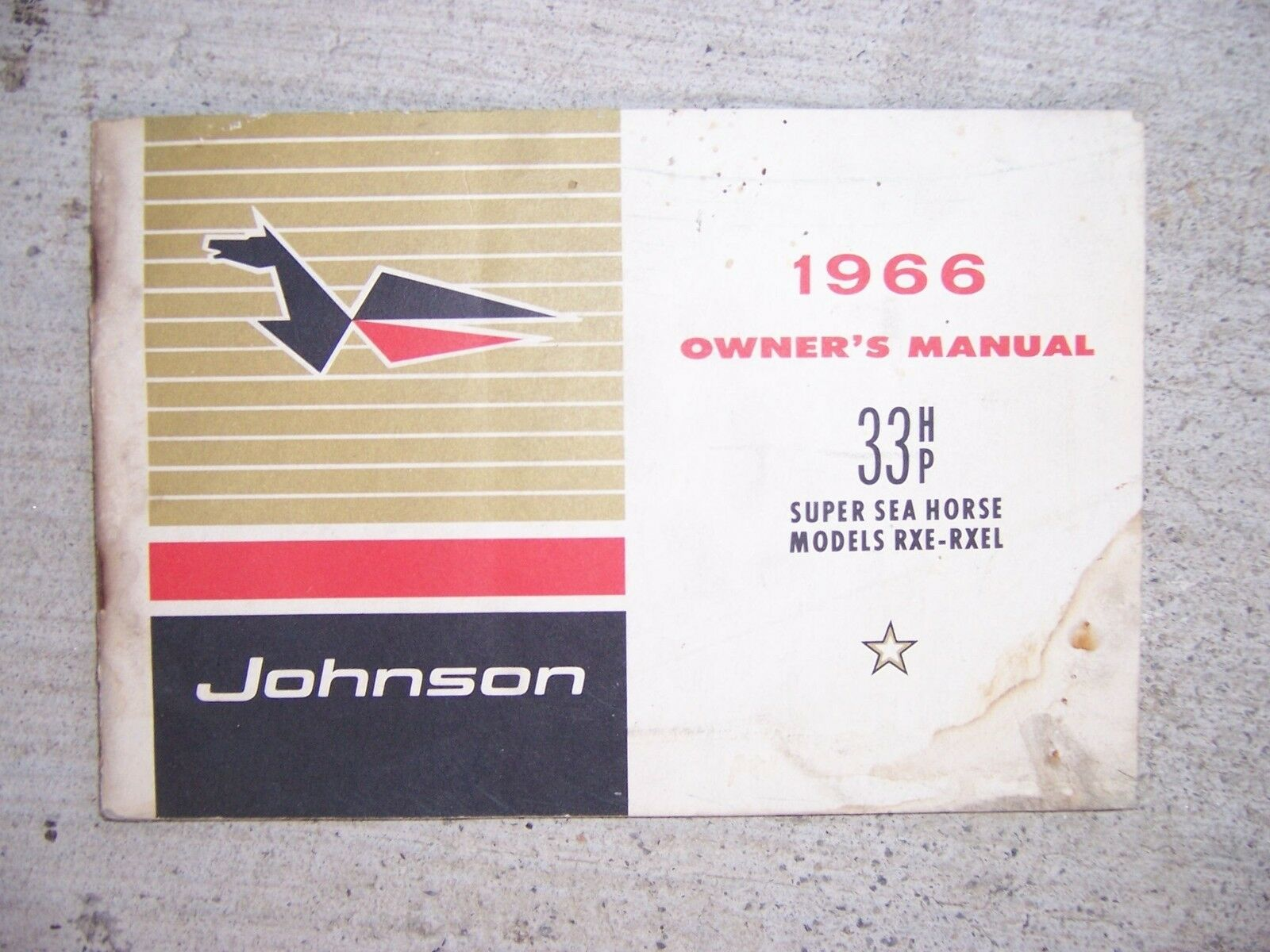1966 Johnson Super Sea Horse 33 Hp Rxe Rxel Outboard Motor Owner Wiring Diagram Manual S 1 Of 1only Available