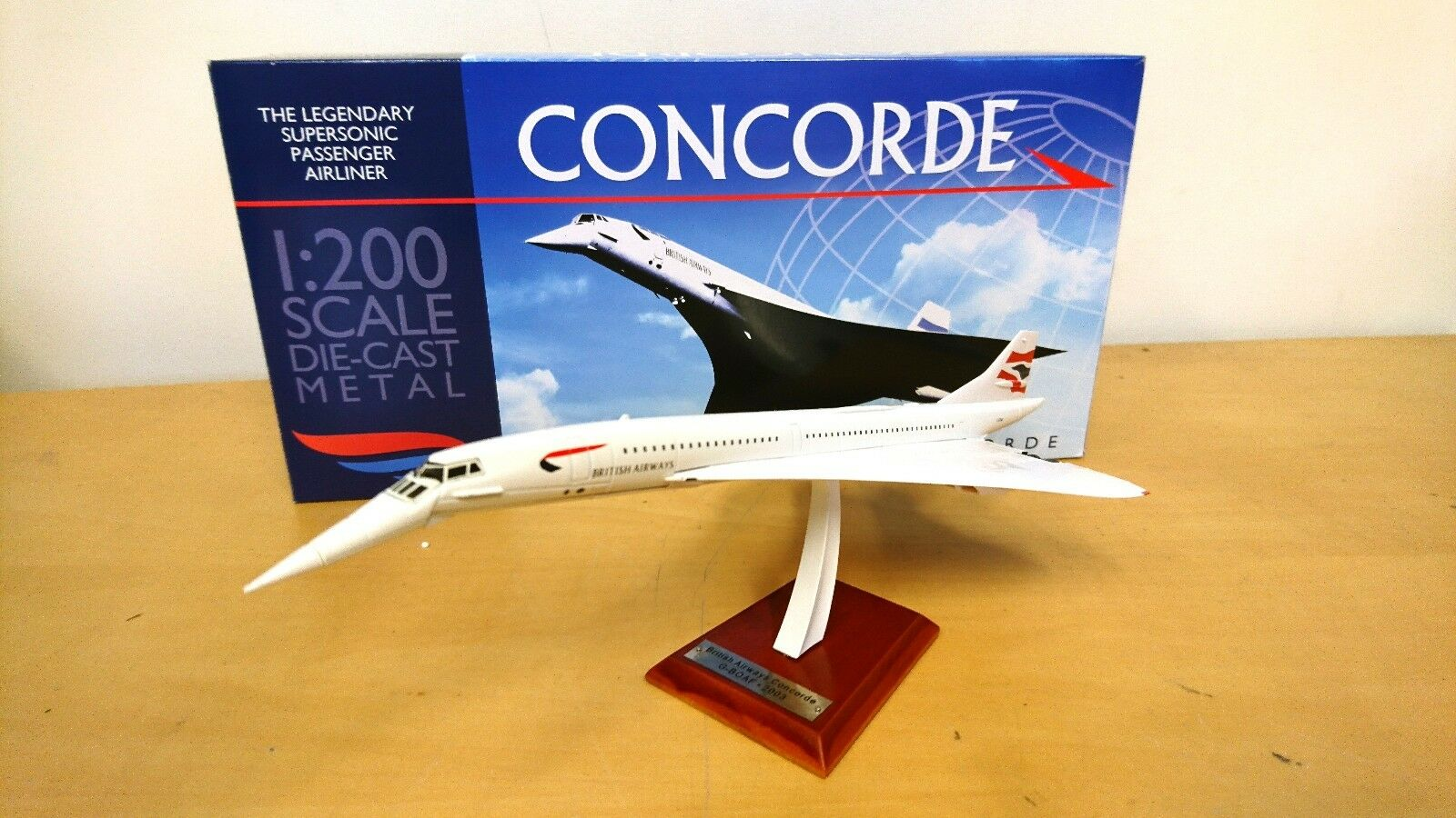 concorde british airways g boaf 1 200 avion miniature collection atlas diecast eur 19 90. Black Bedroom Furniture Sets. Home Design Ideas