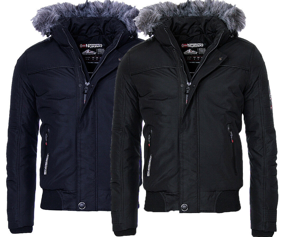 geographical norway herren winter jacke warme bomber jacke outdoor borrowpark eur 59 90. Black Bedroom Furniture Sets. Home Design Ideas