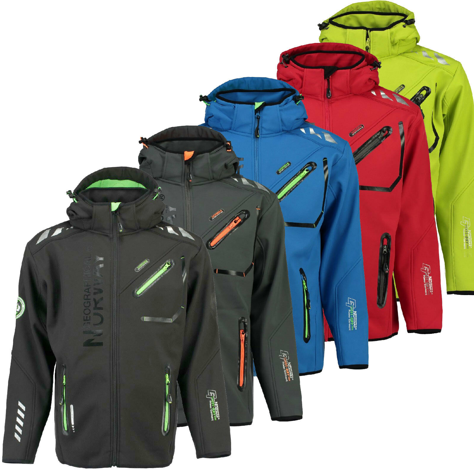 GEOGRAPHICAL uomo S RAINMAN Giacca XXL NORWAY Impermeabile Softshell ppC71rn