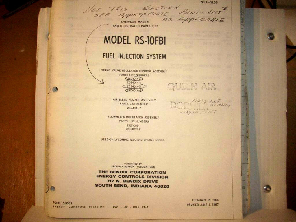 Bendix Rs 10fb1 Fuel Injection Overhaul Parts Manual 17717 Injector Diagram 1 Of 12only Available See More
