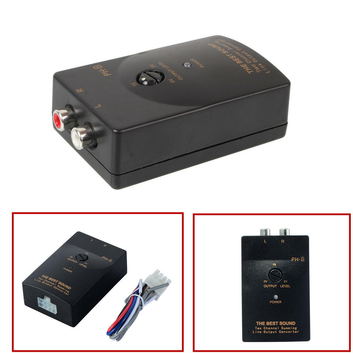 CAR AUDIO RCA Speaker High To Low Level Line Output Converter With ...