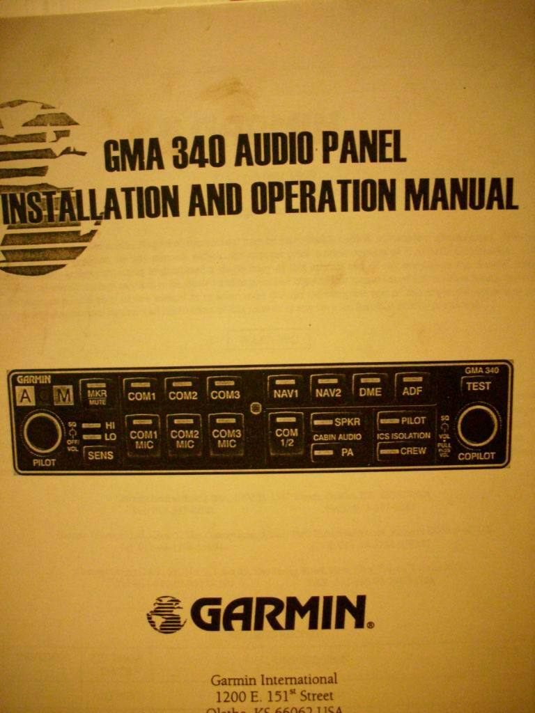 garmin gma 340 install and operation manual 100 74 picclick rh picclick com Gutter Installation Guide RV Toilets Installation Diagrams