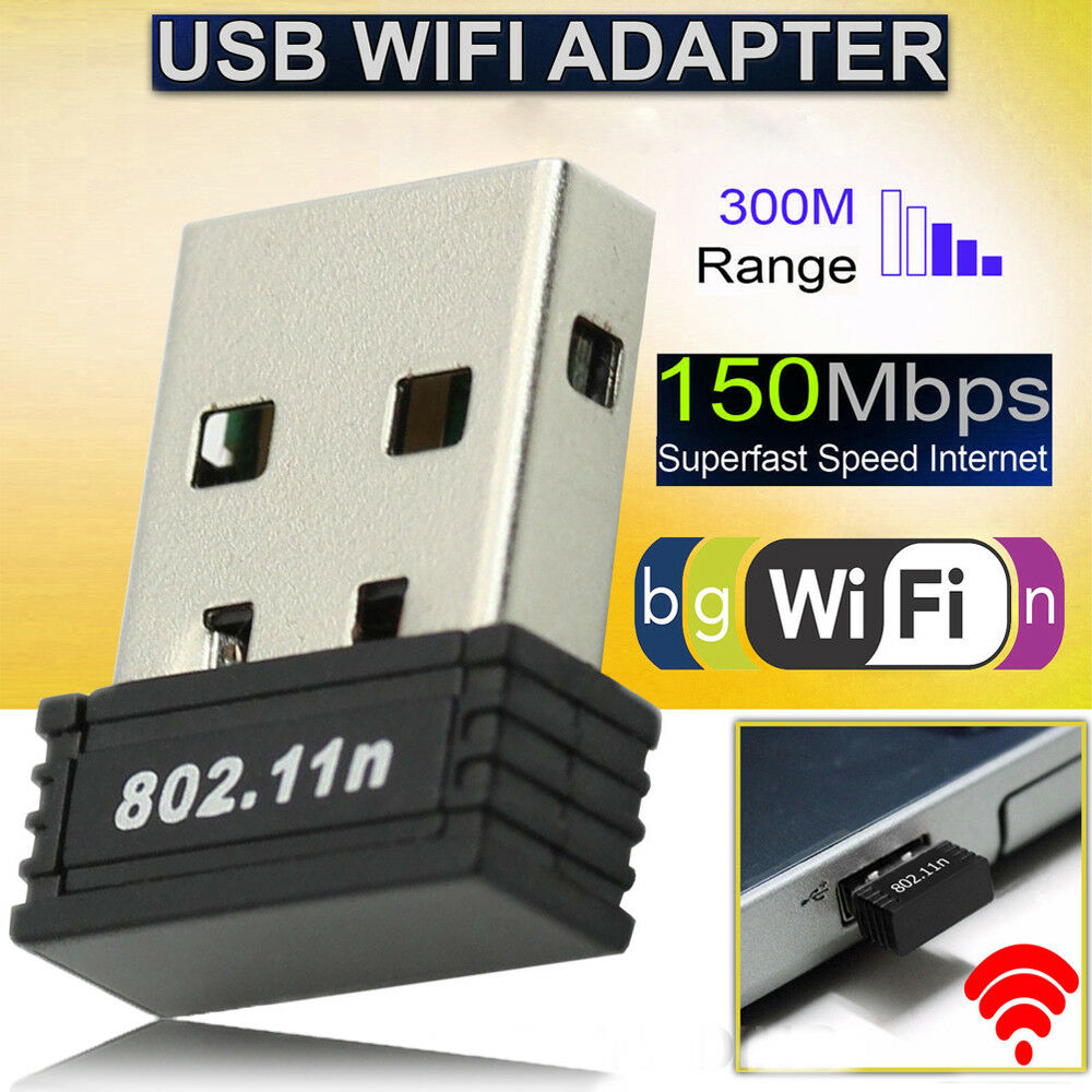 150mbps Wifi Mini Usb Wireless Dongle Adaptor 80211 B G N Lan Receiver 80211n 1 Of 10only 0 Available
