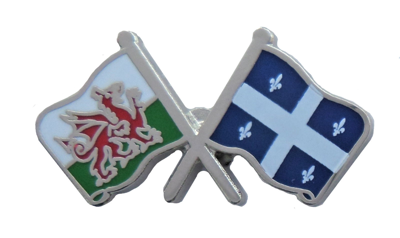 Canada Quebec U0026 Wales Flag Friendship Courtesy Pin Badge 1 Of 2FREE  Shipping ...