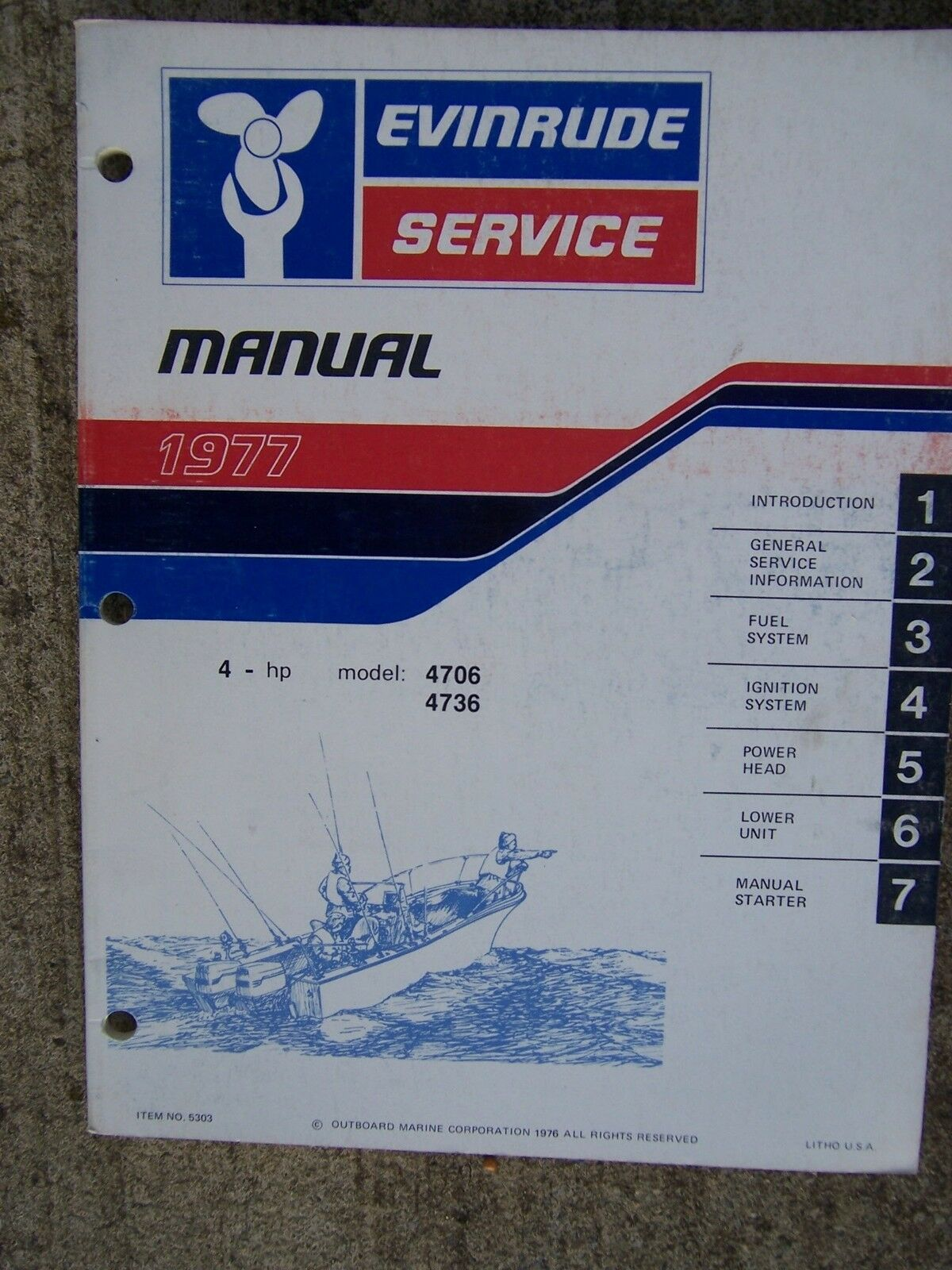 1977 Evinrude 4 HP Models 4706 4736 Outboard Service Manual MORE IN OUR  STORE R 1 of 1Only 1 available ...