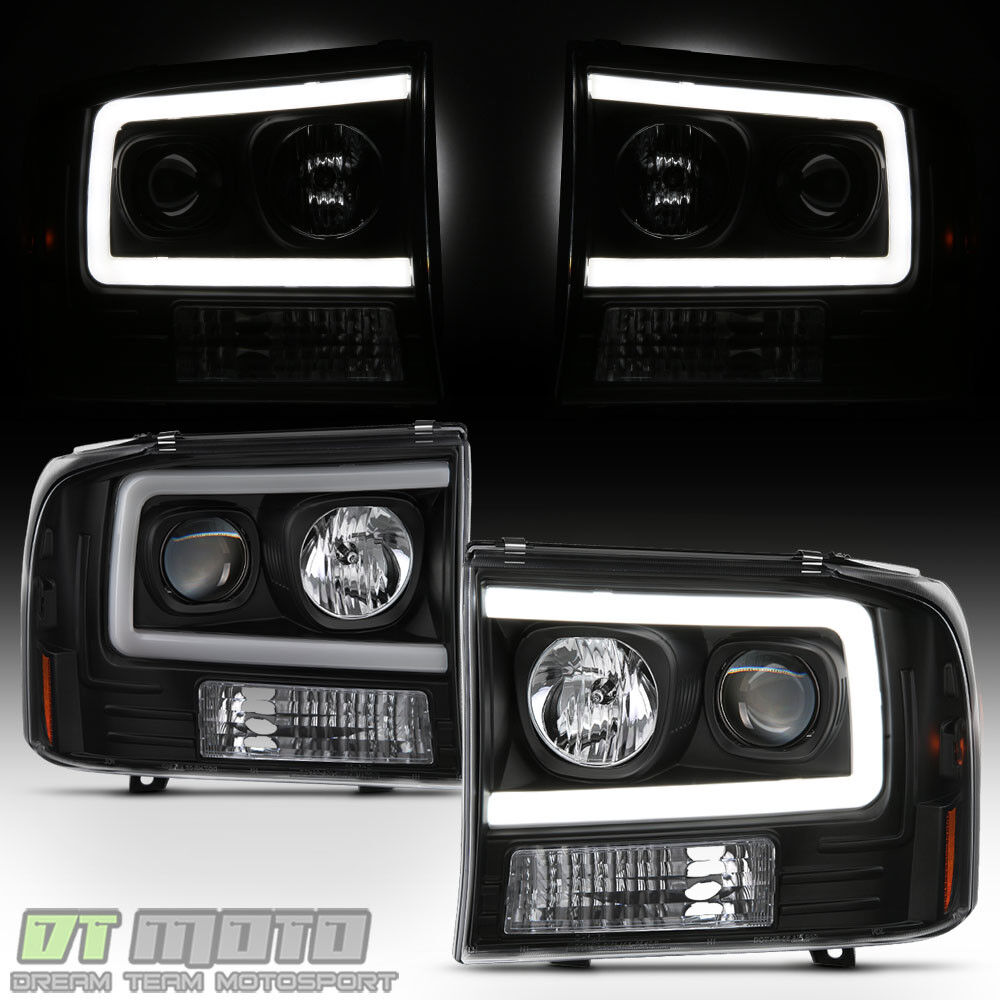 New Black 1999 2004 Ford F250 F350 F450 Sd Led Light Tube F 250 Super Duty Bulbs Projector 1 Of 10only 5 Available See More