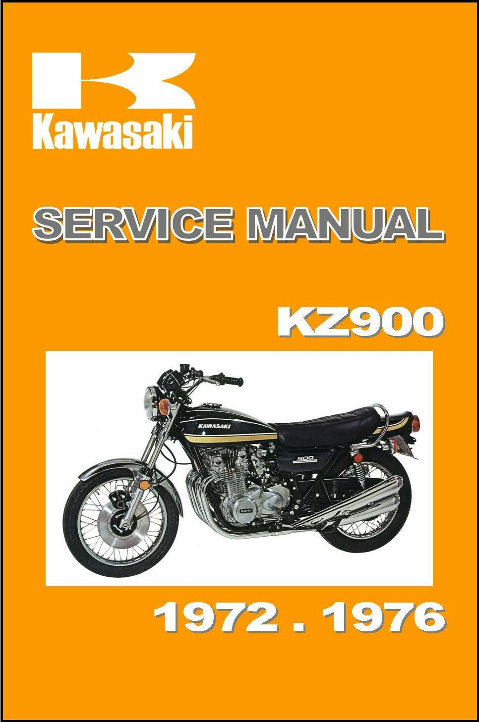 KAWASAKI Workshop Manual Z1 Z1A Z1B Z900 KZ900 1972 1973 1974 1975 1976  SERVICE 1 of 6 See More