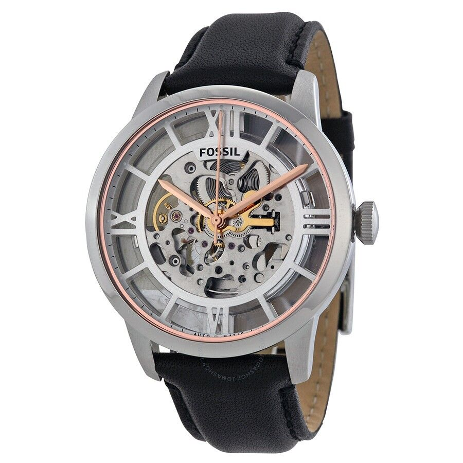 Fossil ME3041 Men's Townsman Automatic Black Leather Strap Watch 1 of 1Only 4 available ...