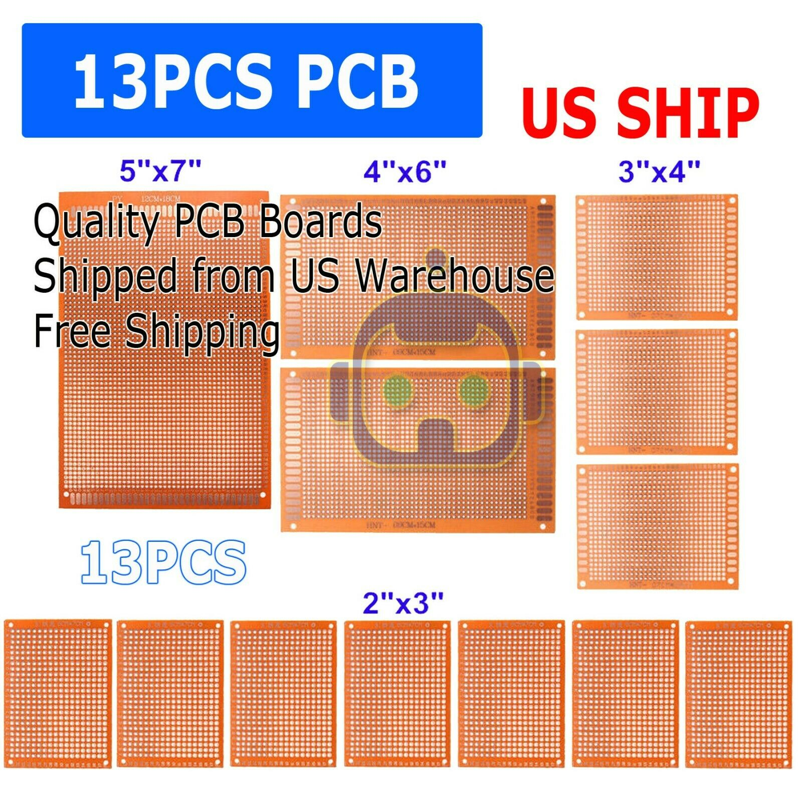 12pc Diy Prototyping Board Pcb Printed Circuit Prototype Breadboard Aquisition Of Electronic Boards Pcbs And Stripboard 1 7free Shipping See More