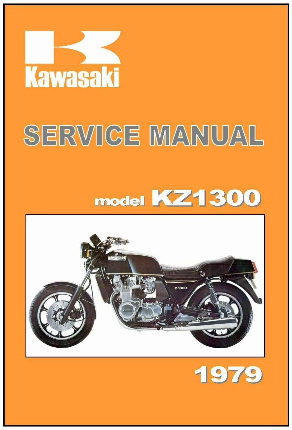 KAWASAKI Workshop Manual KZ1300 Z1300 1979 Maintenance Service and Repair 1  of 5Only 2 available ...