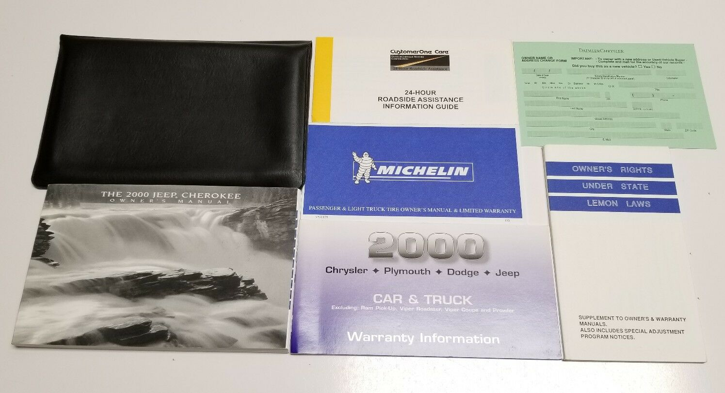 2000 Jeep Cherokee Owners Manual 2.5L V6 4.0L Se Sport Classic Limited 4Wd  Suv 1 of 2FREE Shipping ...