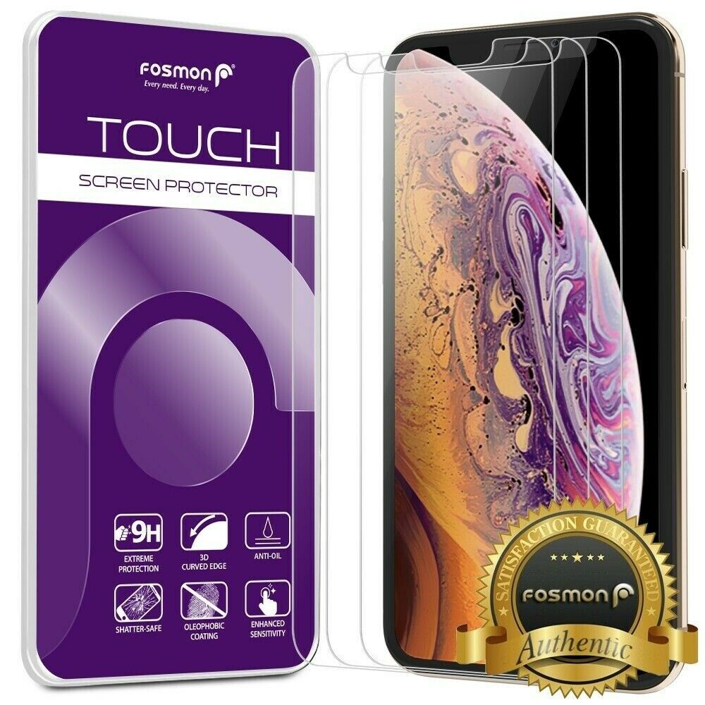 Fosmon Iphone Xs Max 65 3x Hd Clear 9h Tempered Glass Screen Xr Glastr Slim Protector Original Guard 1 Of 7free Shipping See More