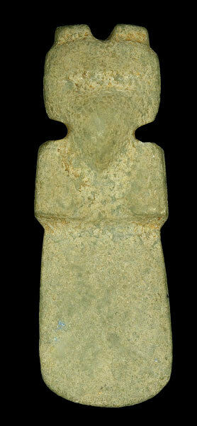 Pre-Columbian Drilled Axe God - Very Nice Good Detail