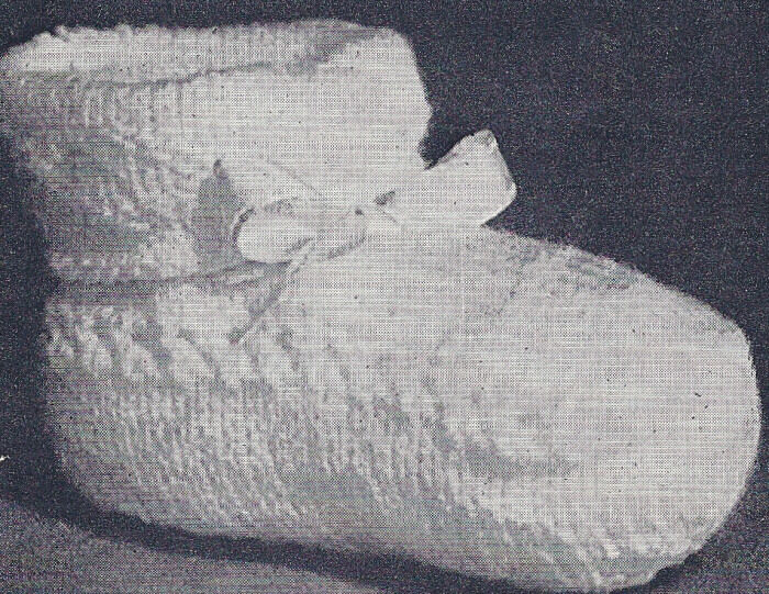Vintage Knitting Patterns : Vintage Knitting PATTERN Baby Booties Infant Knit Shoes ? $7.99 1 of ...